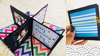 Friendship Day Gift! DIY square Circular Pop greetings Card!!