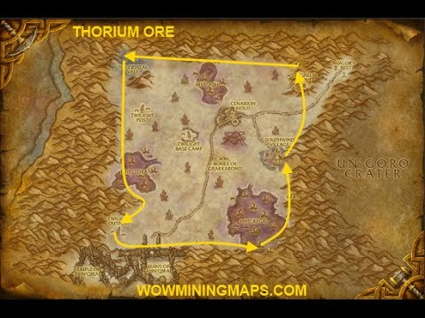 World Of Warcraft Farming Thorium Ore (Farm Guide)