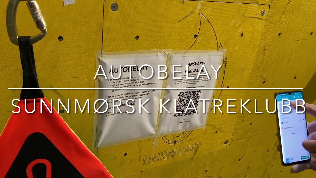 Instruksjonsvideo for autobelay