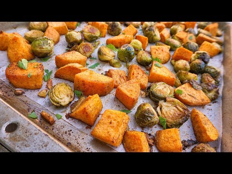 oven-roasted-sweet-potatoes-&-brussels-sprouts-|-healthy-side-dish-|-episode-115