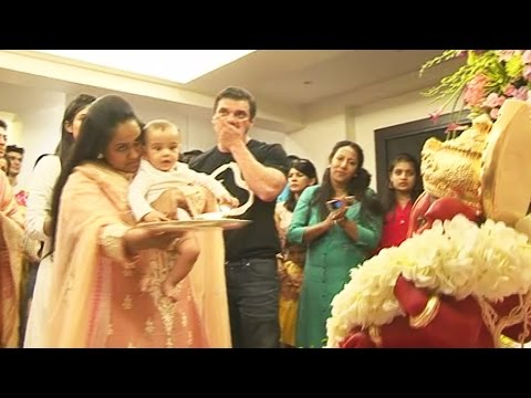 Salman Khan's NEPHEW Ahil's FIRST Ganesh...