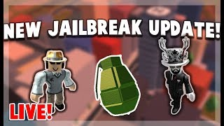 🔴LIVE🔴 ROBLOX JAILBREAK UPDATE AND QUESTIONS!!!! (Road to 1.2k!)