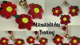 Repeat youtube video NOCHEBUENAS HECHAS CON LIMPIA PIPAS .POINSETTIA MADE OF PIPE CLEANER.