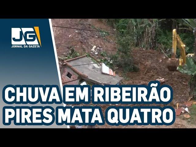 Quatro pessoas morrem em desabamento causado pela chuva em Ribeirão Pires