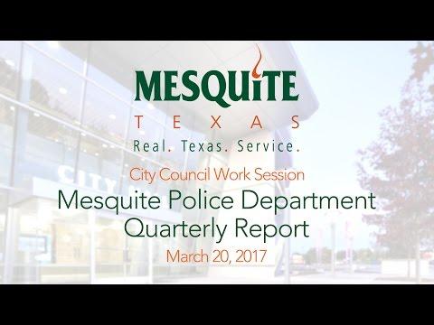 Mesquite Police Department Quarterly Report