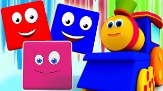Bob Train et la couleur | Musique pour enfants | vidéo éducative | Bob Train on Color Ride