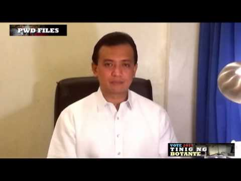 Antonio Trillanes IV on PWDs