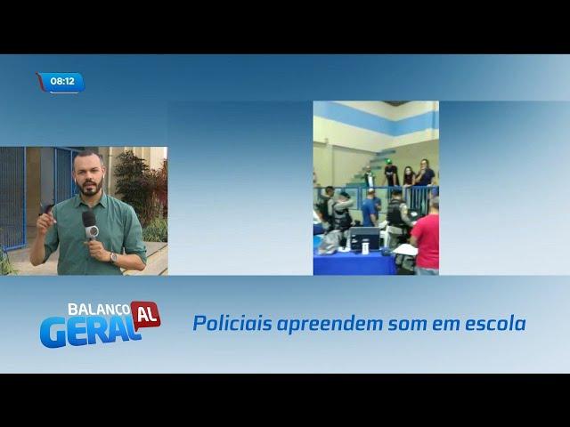 Policiais apreendem som e suspendem apresentação de alunos em escola de Maceió