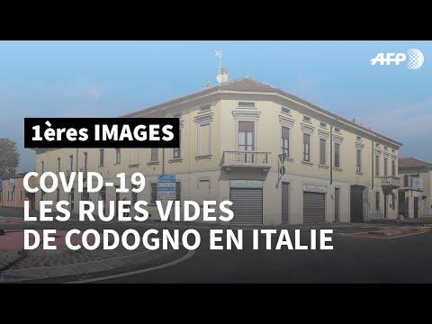 Coronavirus Covid-19 en Italie: rues désertes à Codogno, en Lombardie | AFP Images