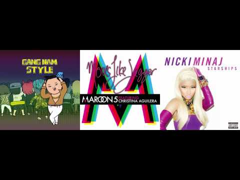 PSY vs. Maroon 5 ft. Christina Aguliera vs. Nicki Minaj - Moves Like Gangnam Starships
