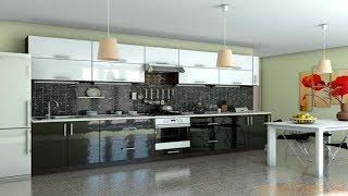 Кухня Гламур Черный глянец - белый глянец. Фабрика Гарант