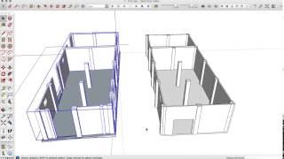 Пример работы в SketchUp. Проект спортзала.