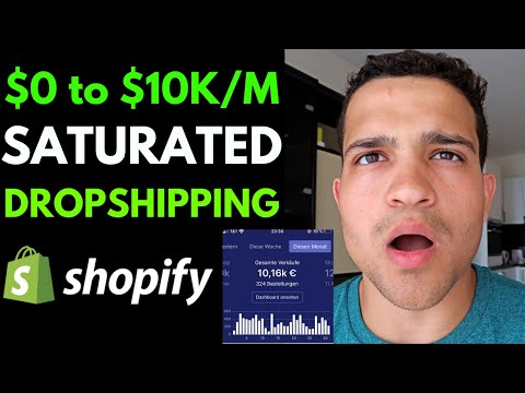 $0 to $10K A Month Dropshipping SATURATED Products | Shopify Dropshipping 2020 Case Study thumbnail