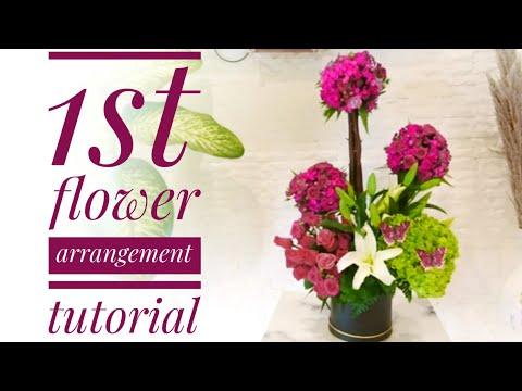 Flower arrangement by Joan of Art - 1st tutorial thumbnail