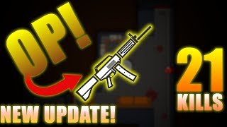NEW USAS-12 IS OP!!! - 21 KILLS SURVIV.IO SOLO SQUADS - NEW UPDATE: LOGGING CAMP, USAS-12, FIRE AXE