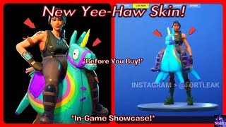 *NEW* Yee Haw Skin! (Before You Buy) & In-Game Showcase! | Fortnite Battle Royale