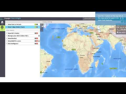 VFI Plus Tutorial 2 - How to view vessel positions on a CMAP chart