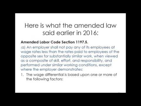 California and Federal Employment Law Updates for 2017