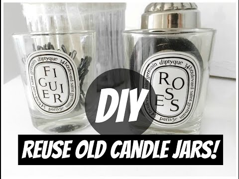 DIY: REUSE OLD CANDLE JARS | AuroraCecilia