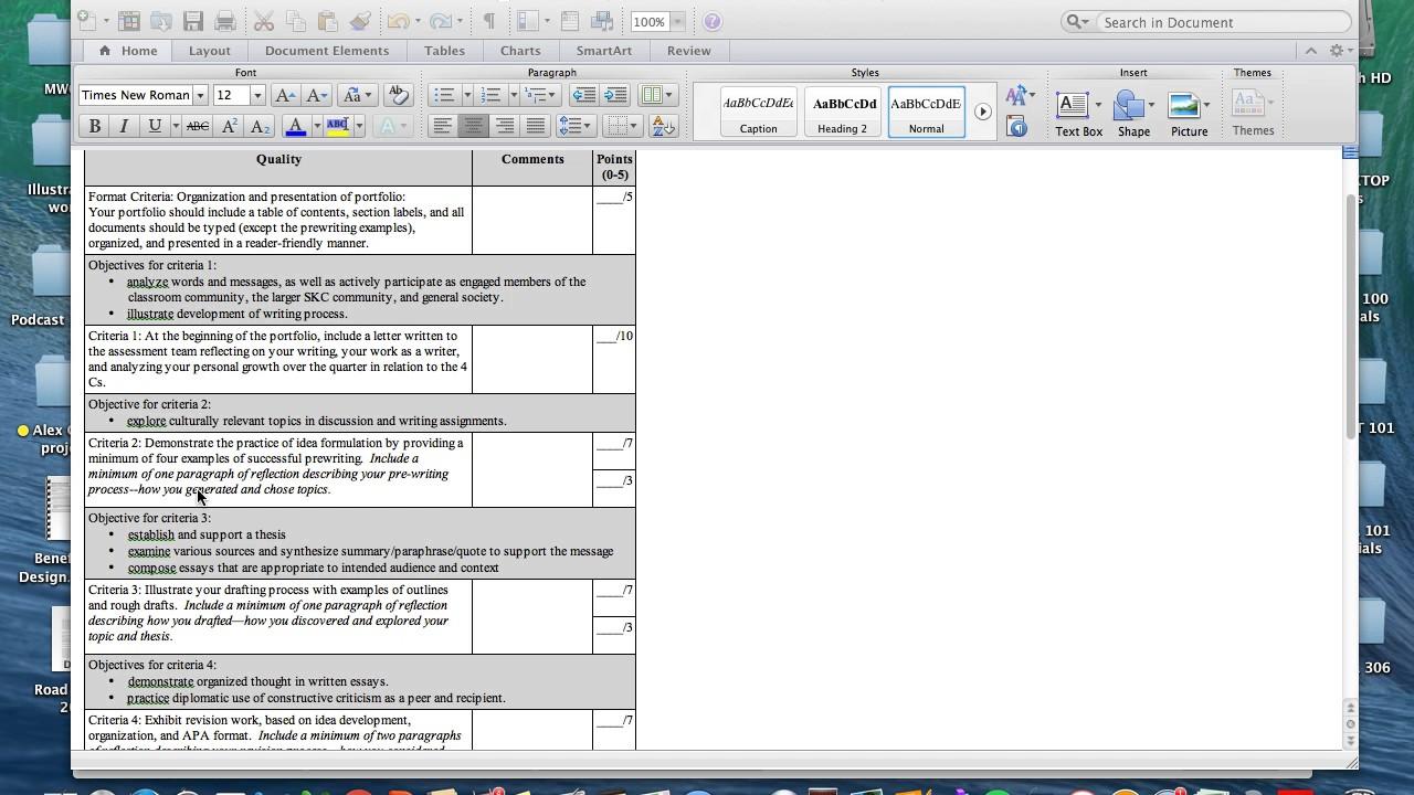 Criteria 2 Pre Writing