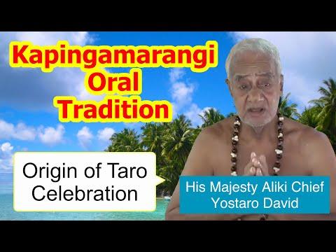 Account of the the origin of taro celebration, Kapingamarangi Atoll