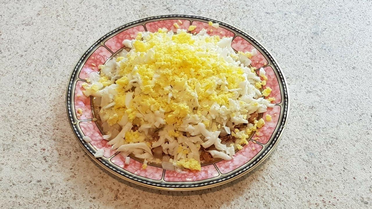 салат из печени трески без майонеза рецепт с фото очень вкусный