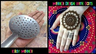 New mehndi design with dots | Easy Mehndi designs | latest mehndi design