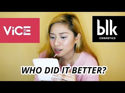 ALIN ANG MAS OKAY? VICE COSMETICS vs  BLK COSMETICS