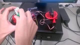 2 way tiltable Arduino powered webcam stand | Heikki Hietala