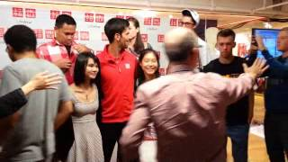 Novak Djokovic Meet n' Greet at Uniqlo NYC