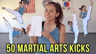 50 DIFFERENT KICKS | Martial Arts, Karate, Taekwondo