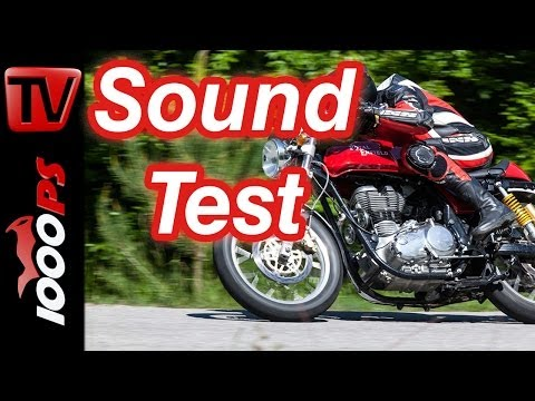 Soundvideo   Royal Enfield Continental GT 535   1-Zylinder Sound