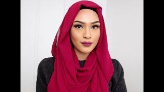 Hijab Tutorial: Red Rose