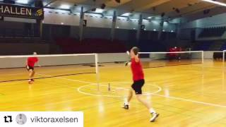 Viktor Axelsen - Scott Evans quarter court