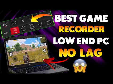 How to Record PUBG Mobile Gameplay in Low End PC Without Lag | Best Game Recorder For Low End PC