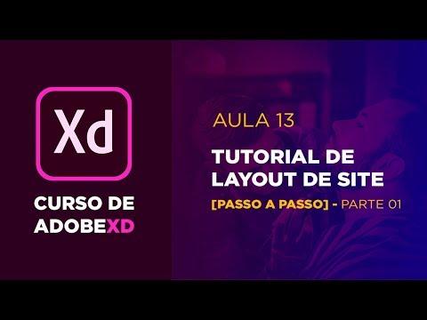 Curso de Adobe XD - Tutorial de site  - Parte 01 [Aula 13] thumbnail
