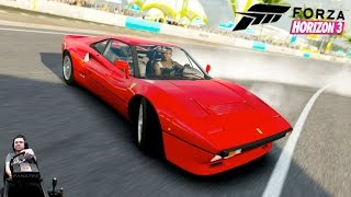 Лучшая красная фурия - Ferrari 288 GTO - Forza Horizon 3 на руле Fanatec CSL Elite