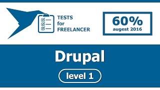 Freelancer - Drupal - level 1 - test (60%)