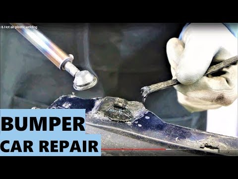 Car Bumper repair plastic & Hot air plastic welding