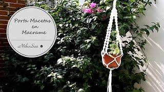 DIY Porta Macetas macrame / DIY Flower Pot Support - MikoSaa