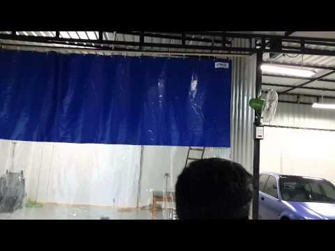 Wash Bay Curtains, Car wash area pvc screens - Vibha Systems - YouTube