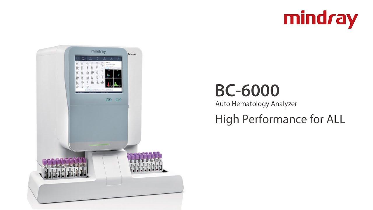 Mindray's BC 6000 Series Auto Hematology Analyzers - Mindray (healthcare  within reach)