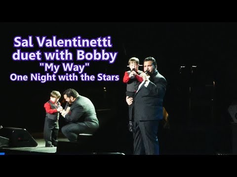 Sal Valentinetti Touching Duet With Little Boy Bobby My Way  One Night With The Stars  Dec 4 2017