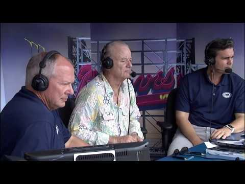 Bill Murray talks Chicago Cubs, Atlanta Braves baseball at Turner Field
