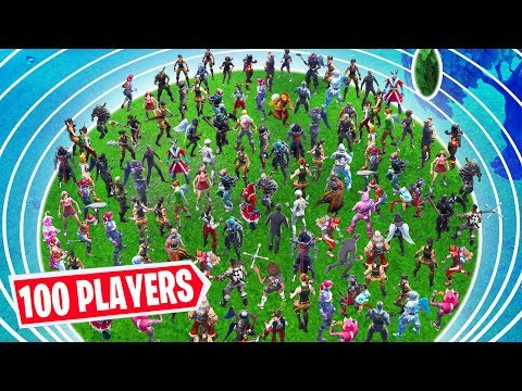 100 PLAYERS CUSTOM LOBBY in the Final Zone! Who Will Survive? - Fortnite