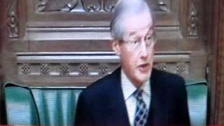Sir Alan Haselhurst in charge of the commons