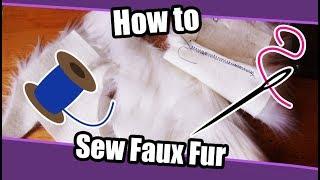 //Tutorial #39// How To Sew Fake Fur