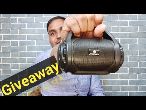 Best Bluetooth portable speaker unboxing | giveaway for you zebronics county bluetooth speaker 🔥🔥