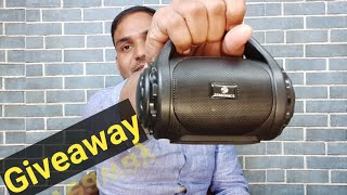 Best Bluetooth portable speaker unboxing | giveaway for you zebronics county bluetooth speaker