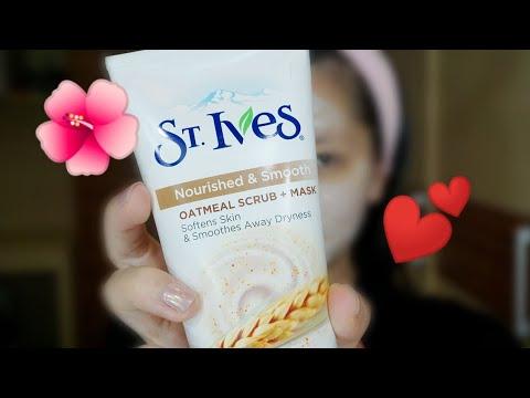 St.Ives Nourished and Smooth Oatmeal Scrub and Mask untuk Kulit Berminyak dan Berjerawat
